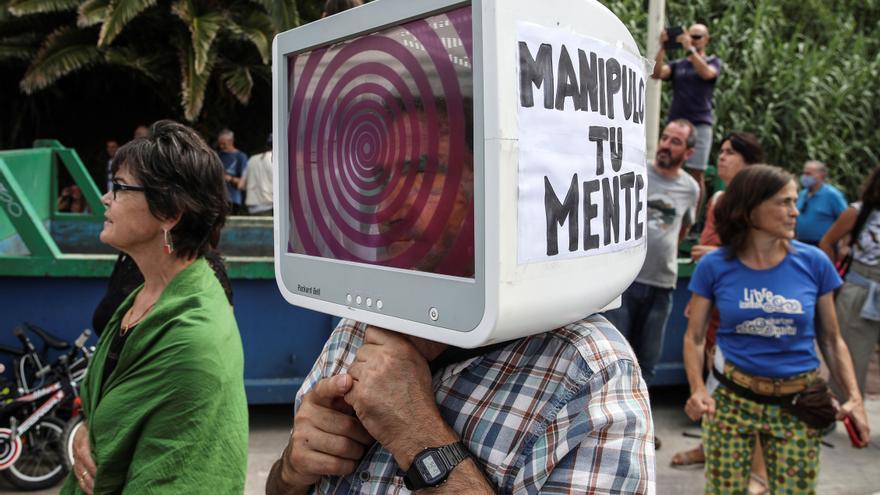 Concentración de negacionistas en San Sebastián. EFE/Juan Herrero/Archivo