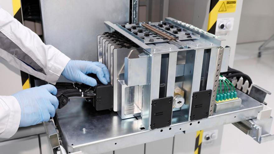 Centro de producción de celdas de batería.