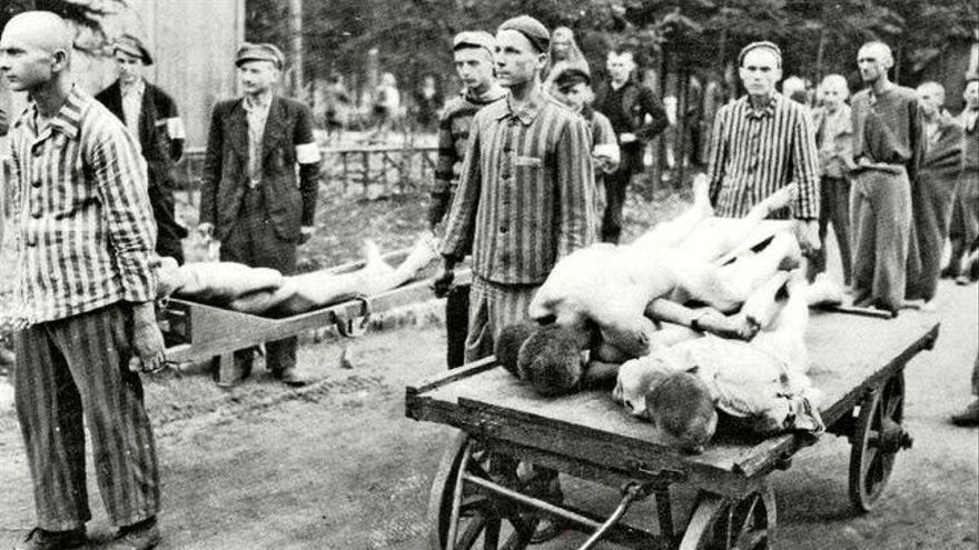Imagen de archivo de una exposición sobre el campo de concentración de Mauthausen.