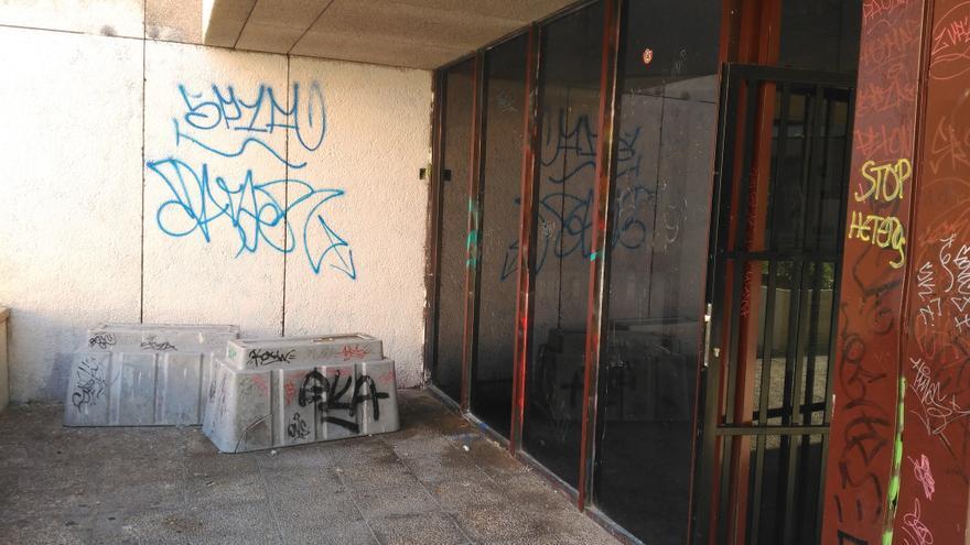 Estado de una de las estancias del Centro Cívico, que refleja la degradación de esta infraestructura Foto Ahora Guadalajara