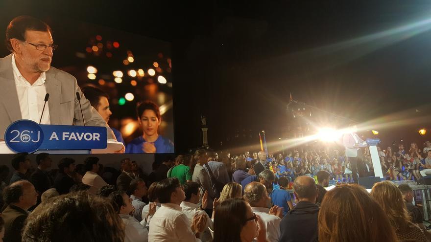 Mitin de Rajoy de cierre de campaña en Madrid.