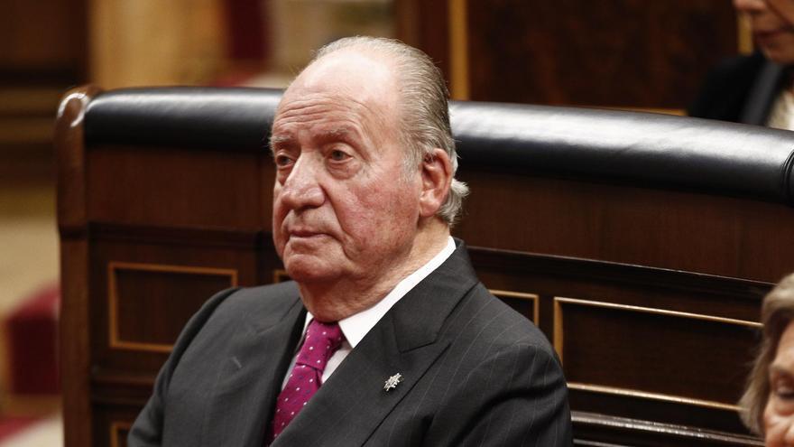 Juan Carlos de Borbón, durante la celebración del 40 aniversario de la Constitución en el Congreso