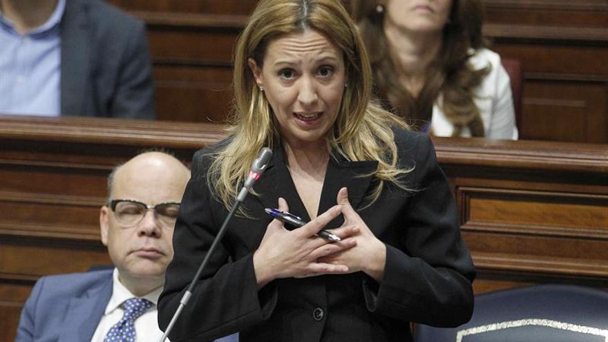 La consejera de Hacienda del Gobierno de Canarias, Rosa Dávila, durante una de sus intervenciones.