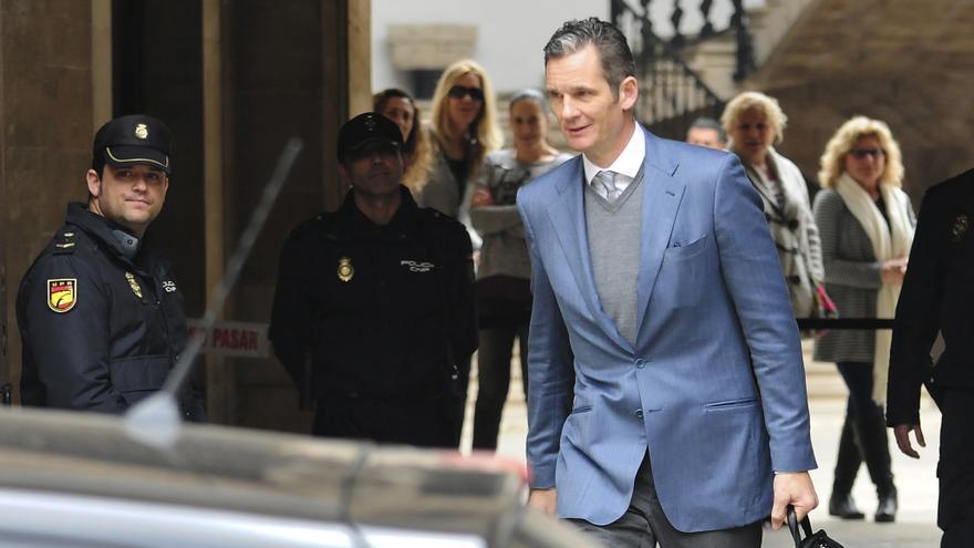 Urdangarin, a la salida el jueves de la Audiencia de Palma de Mallorca.