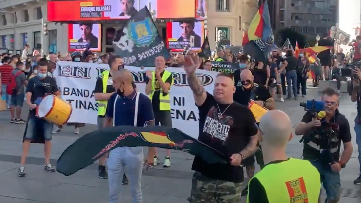 Manifestació neonazi a Madrid.