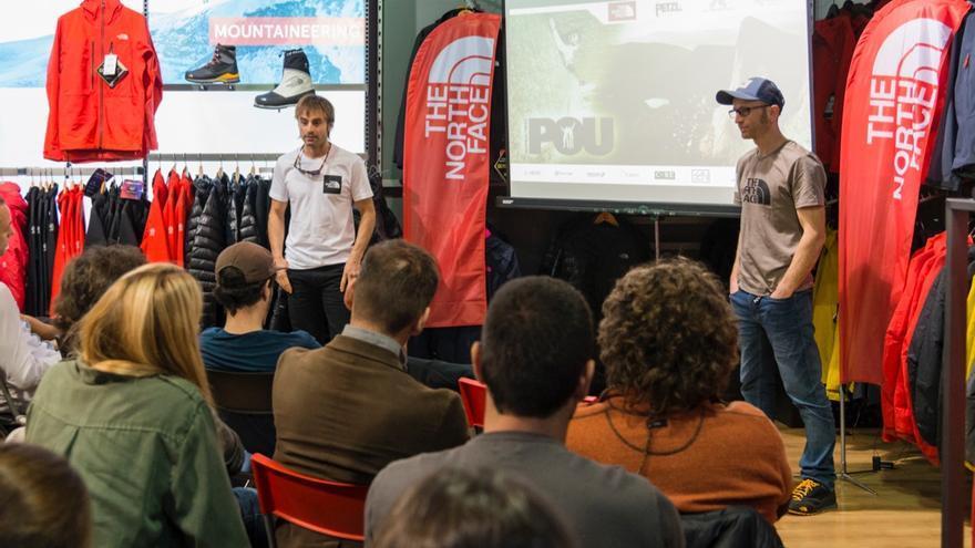 Los hermanos Pou durante su presentación en el The North Face Speaker Series.