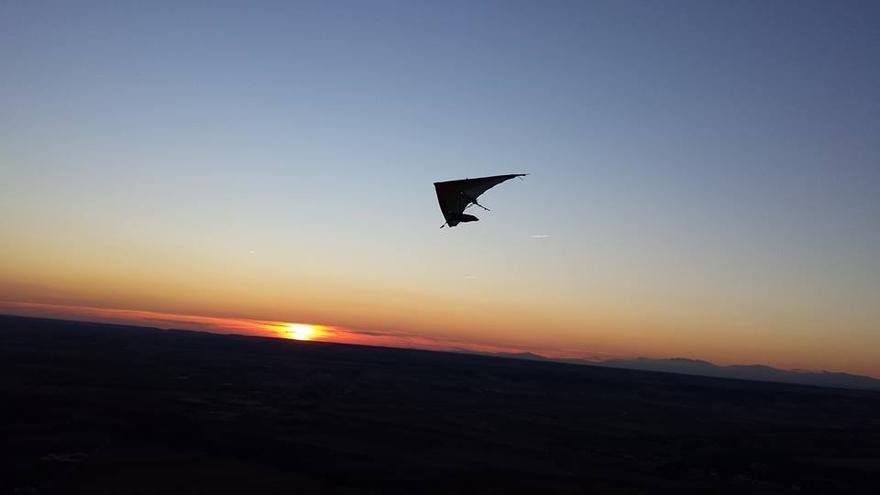 Ensayo de la cabalgata aérea en Alarilla (Guadalajara)