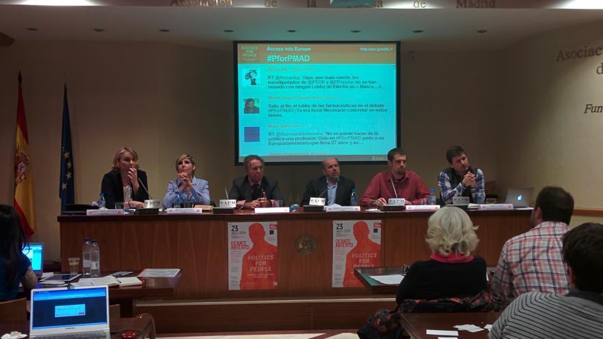 Un momento del debate para las europeas organizado por Access Info
