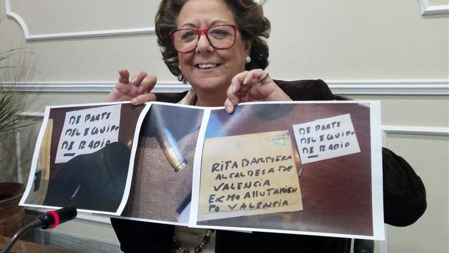 Rita Barberá denuncia ante la policía haber recibido un sobre con una bala