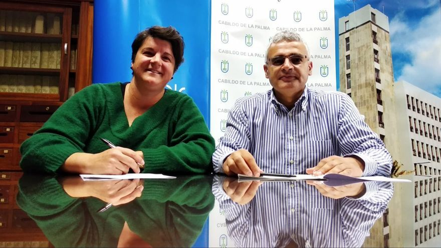 Ascensión Rodríguez y Eduardo Calderón.