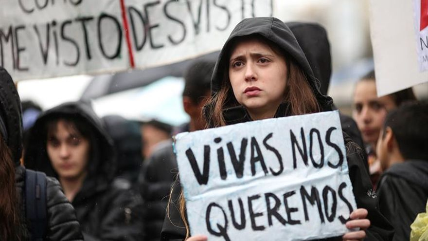 Realizan un paro en Argentina contra la violencia machista antes de la masiva marcha