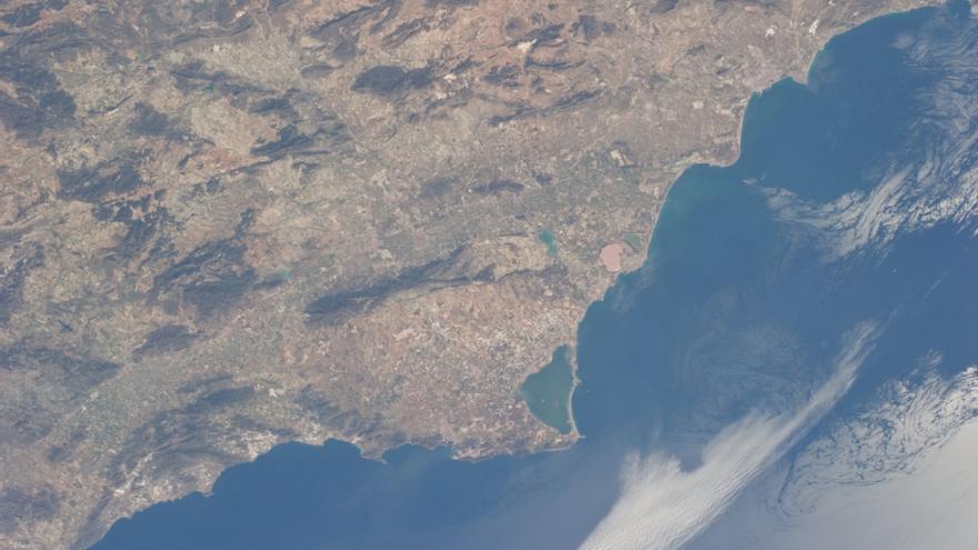 Mar Menor visto desde la Estación Espacial Internacional