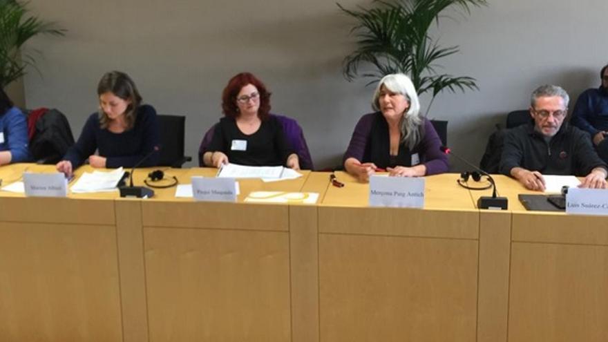 Víctimas del franquismo en su intervención en el Parlamento Europeo / IU-Eur