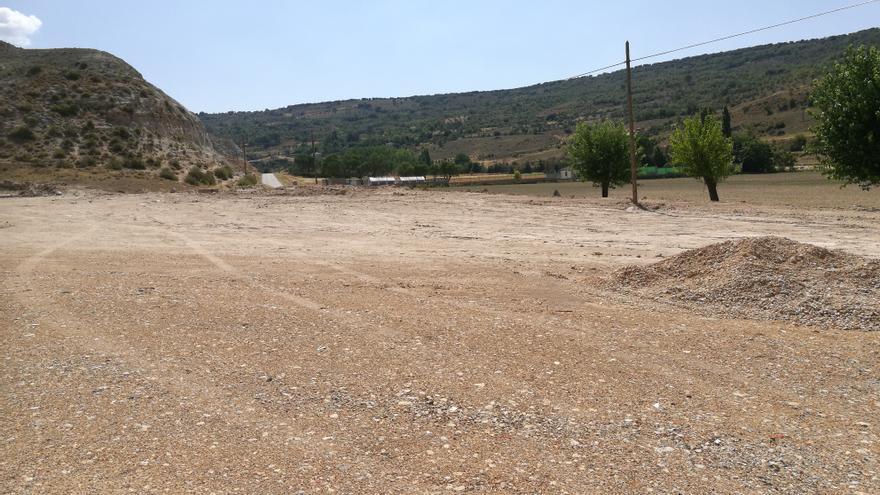 Área donde se quiere construir la futura planta de hormigón