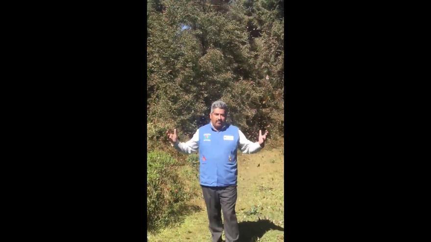 Captura del vídeo difundido en redes sociales por Homero Gómez