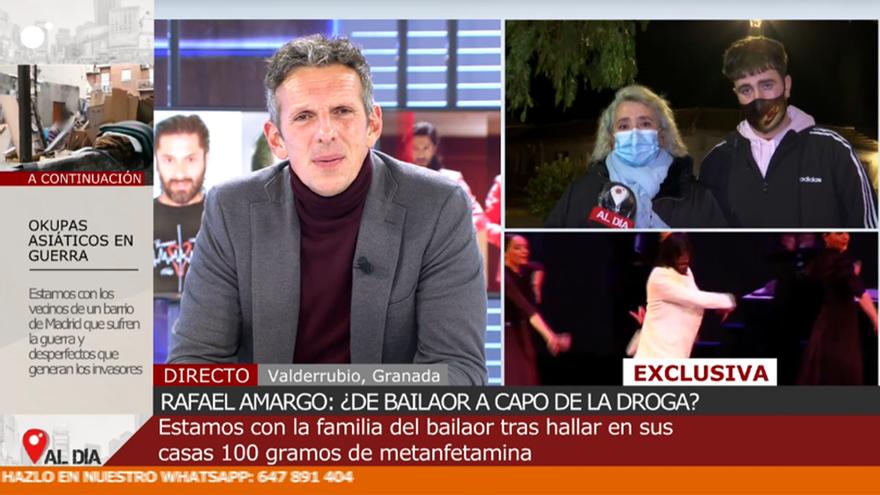 Joaquín Prat habló con dos familiares de Rafael Amargo en 'Cuatro al día'