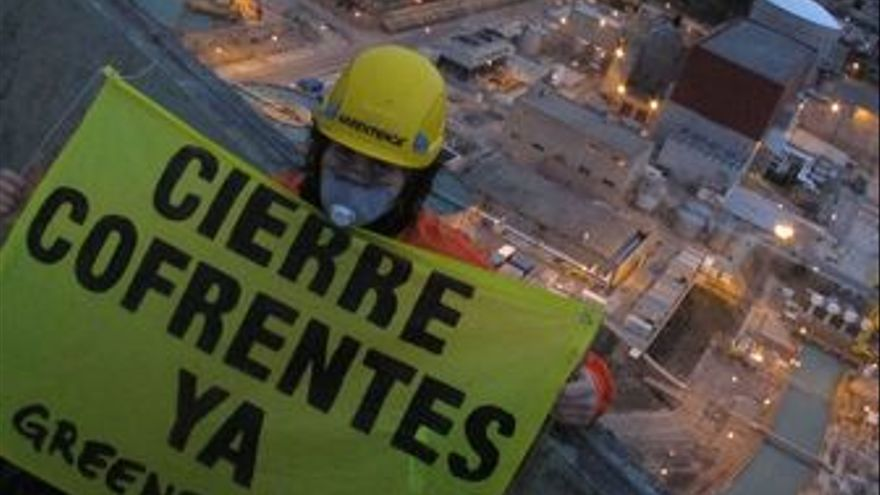 Central nuclear cofrentes activista greenpeace