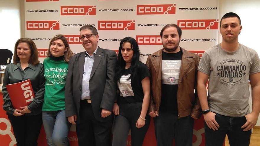 CCOO, UGT, Herrikoa y Eraldatu convocan el jueves huelga en Navarra contra los recortes educativos