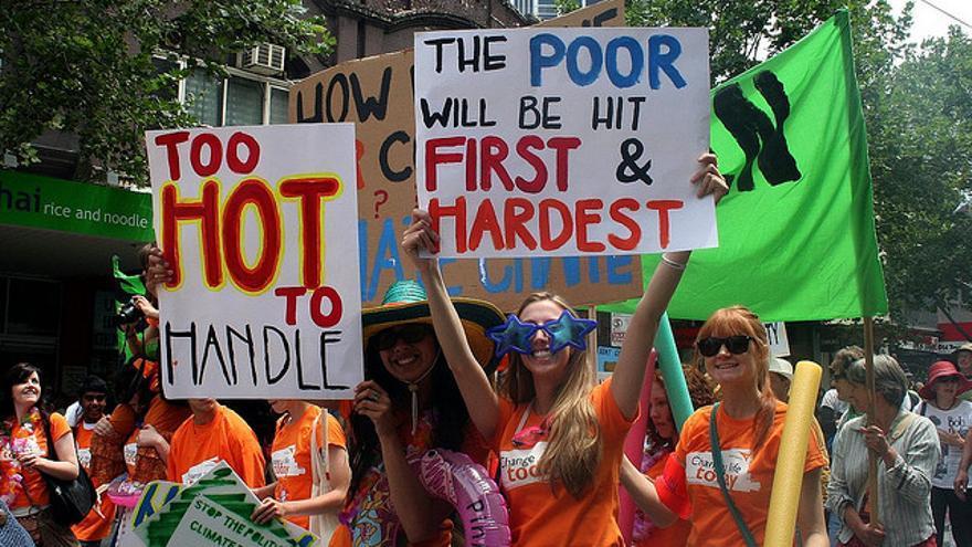 Manifestación por el cambio climático en Melbourne, Australia. Foto: Flickr de Takver, CC.
