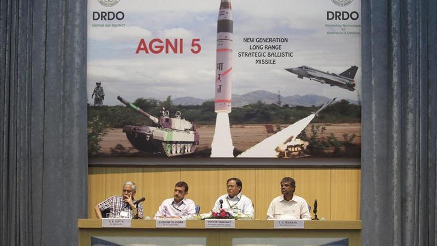 La India vuelve a probar con éxito su misil con capacidad nuclear Agni II