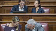 Los diputados socialistas Iñaki Lavandera, Patricia Hernández, Dolores Corujo y Manuel Marcos Pérez