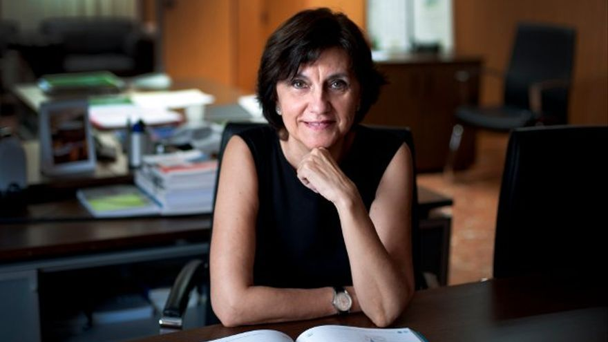 La presidenta del Consejo Audiovisual de Andalucía, Emelina Fernández,