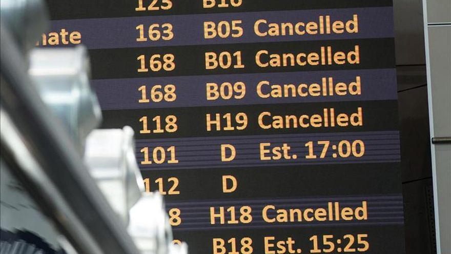 El aeropuerto de Fiumicino en Roma sigue sin recuperar la total actividad