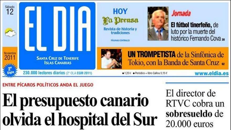 De las portadas del día (12/11/2011) #3