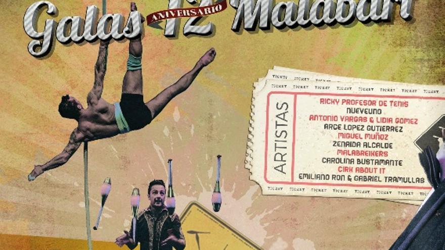 """Detalle del cartel de la """"Gala Malabart 12 Aniversario"""" / http://teatrolopezdeayala.es"""