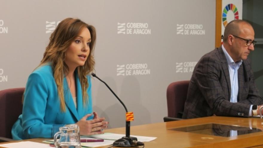 Maru Díaz durante la rueda de prensa