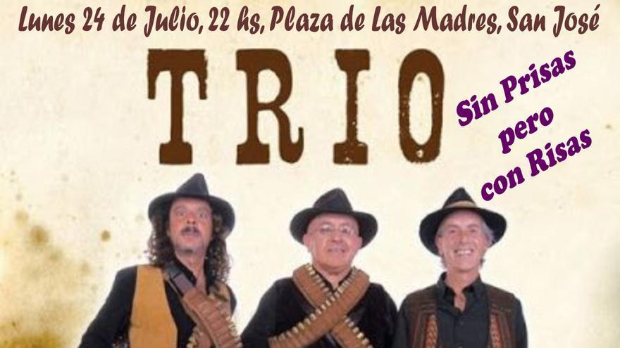 Cartel de la actuación del Trío Zapatista.