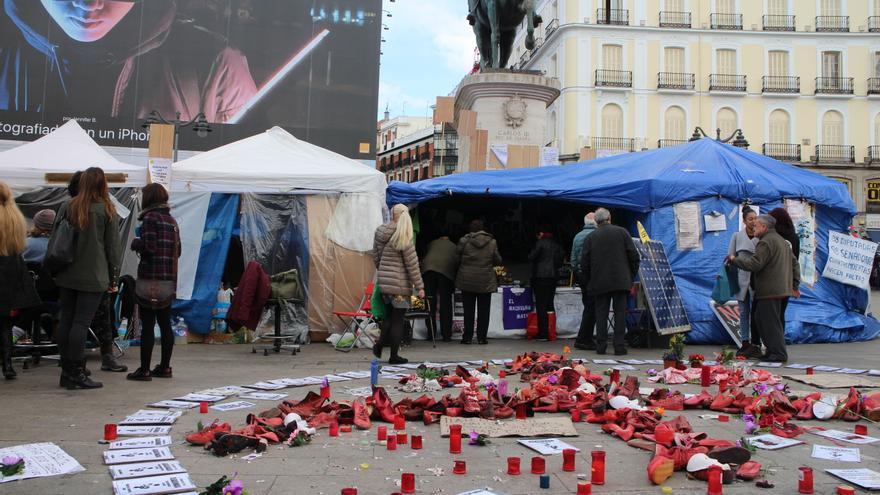 """Las mujeres de la Puerta del Sol finalizan su huelga de hambre porque """"hay una vía de diálogo"""" con el Gobierno"""
