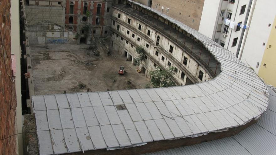 Vista aérea del Frontón Beti-Jai (Madrid)   Wikipedia