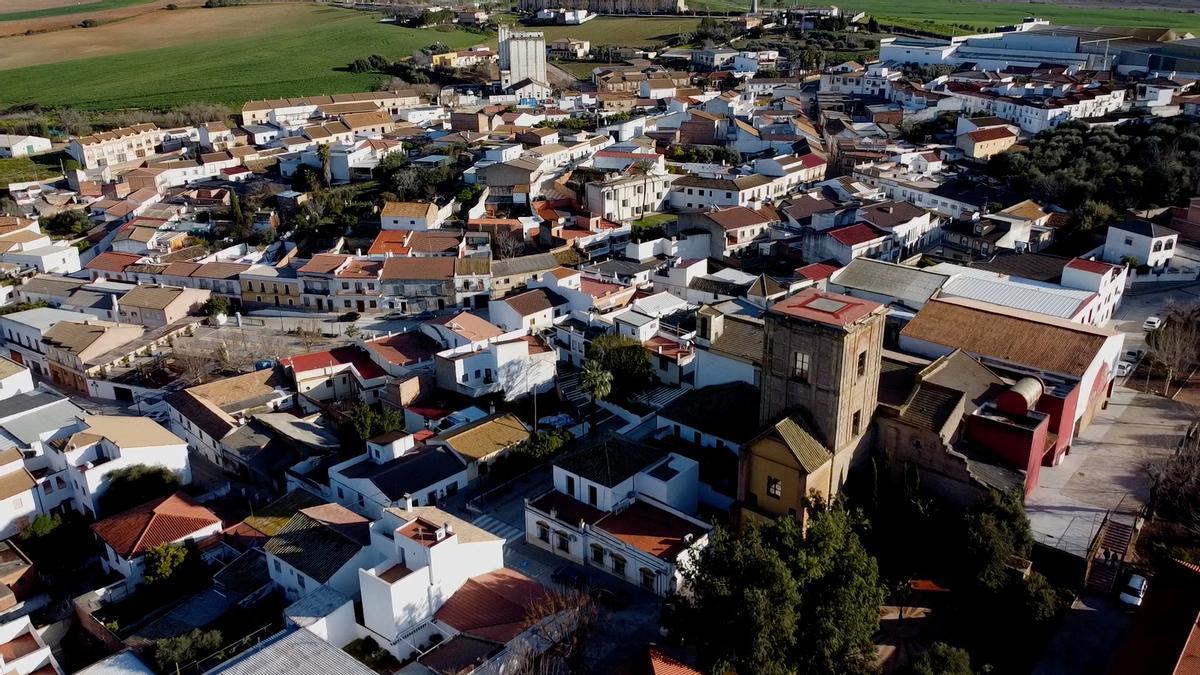 Vista aérea de Guadalcázar