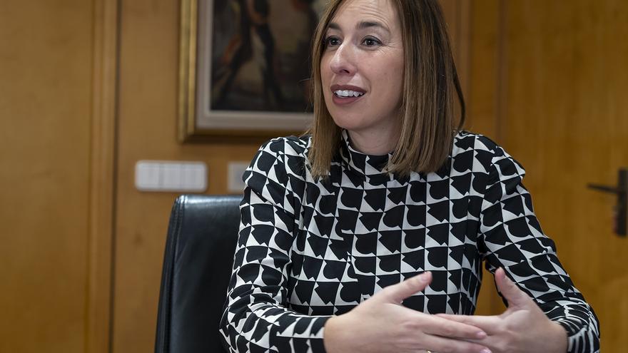 La consejera de Economía y Hacienda de Cantabria, María Sánchez.   JOAQUÍN GÓMEZ SASTRE