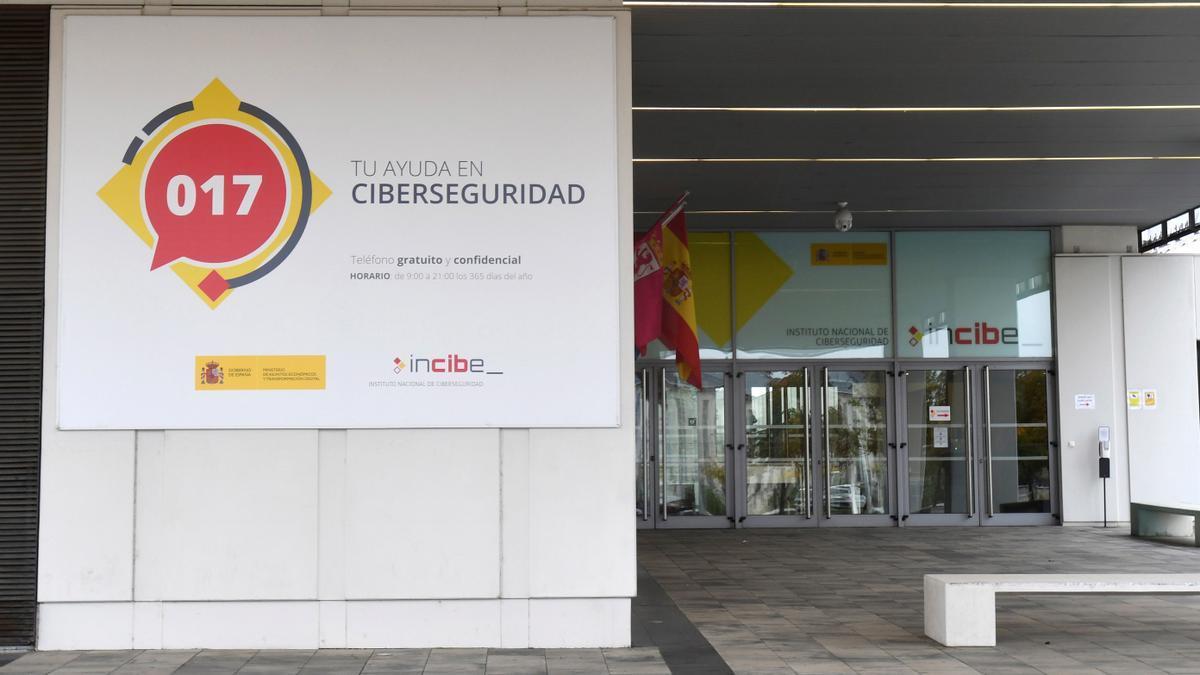 Exterior del edificio del Instituto Nacional de Ciberseguridad (Incibe). EFE/J. Casares/Archivo