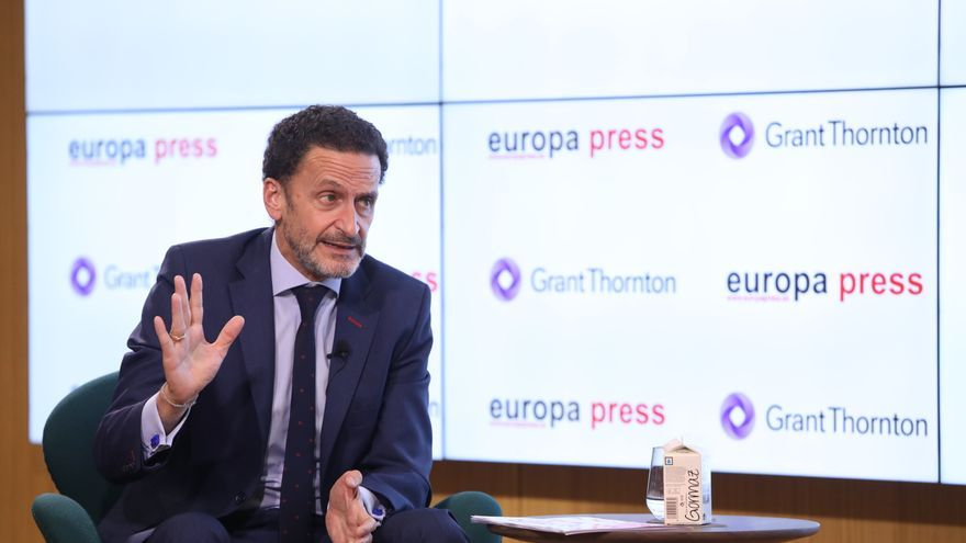 El candidato de Ciudadanos a la presidencia de la Comunidad de Madrid, Edmundo Bal, interviene en 'Desayunos Madrid', el desayuno informativo organizado por Europa Press.