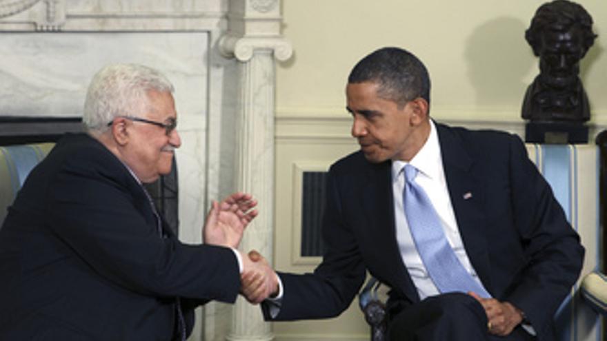 Abbas y Obama en Washington