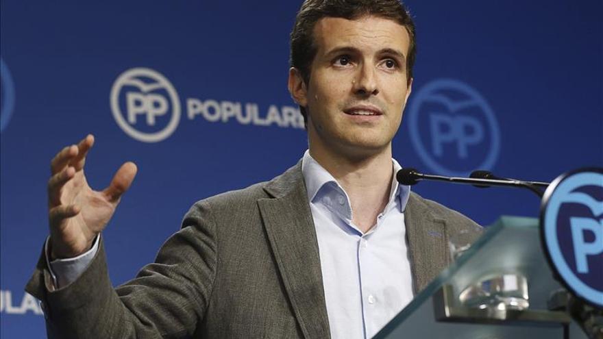 Pablo Casado dice que la dimisión de Tsipras demuestra que el populismo causa paro y pobreza