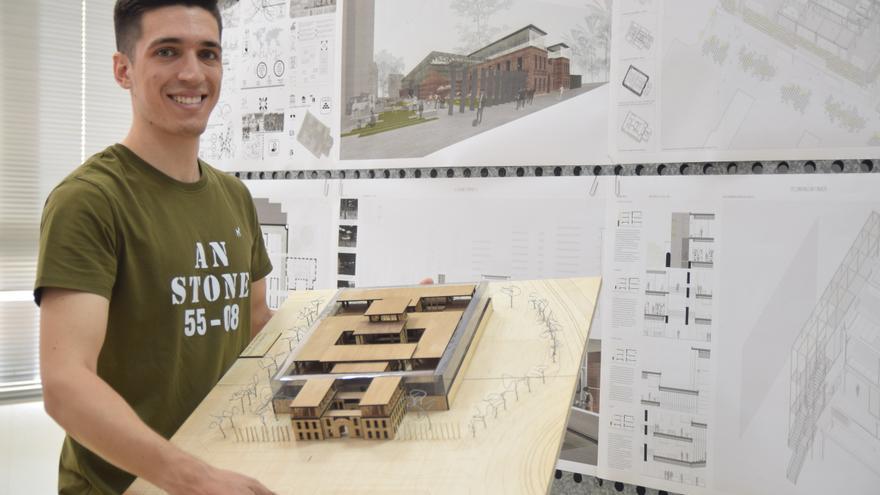 Un arquitecto por la UPCT propone conservar los muros de la Cárcel Vieja como huerto urbano vertical