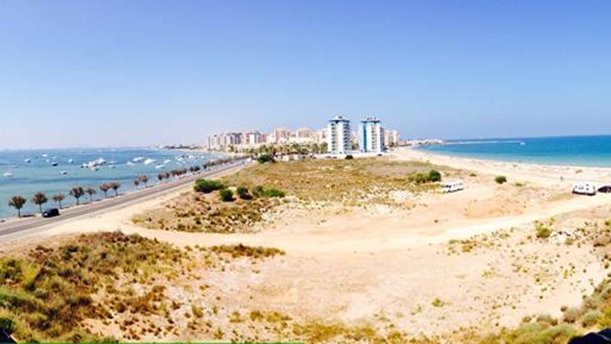 Zona norte de La Manga del Mar Menor, en la Región de Murcia / SSS