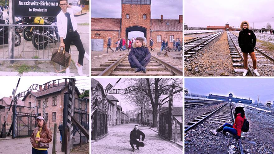 Fotos de usuarios de Instagram a las puertas del campo de concentración de Aushwitz