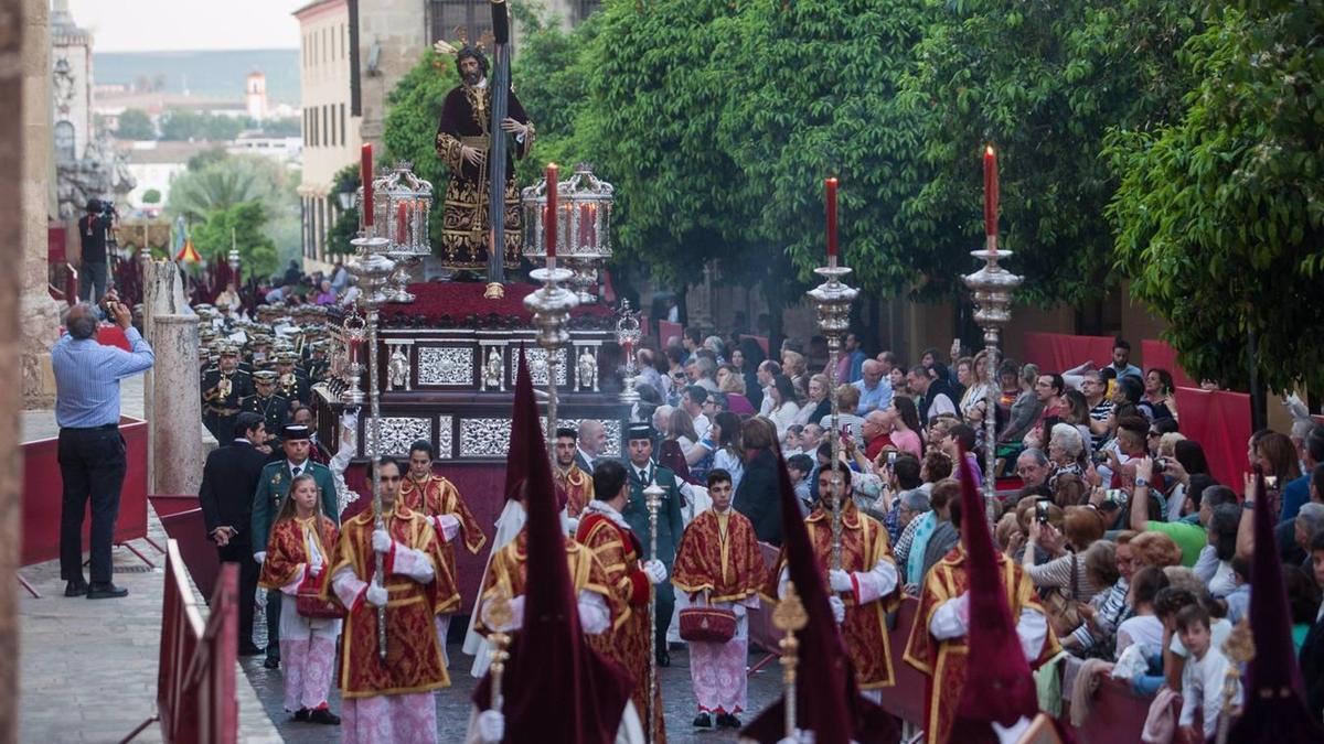 Procesión de la Semana Santa de Córdoba, en una imagen de archivo.