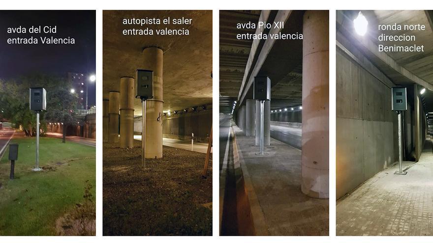 Radares de tráfico en la ciudad de Valencia