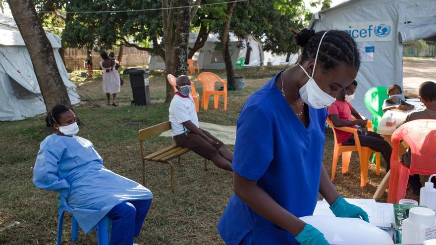 Centro de salud de Tamatave donde MSF apoya al Ministerio de Salud en la respuesta contra el brote de peste en Madagascar