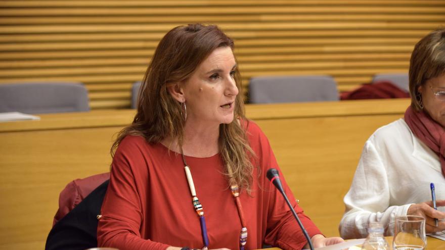 La diputada del PSPV y secretaria general de la provincia de Valencia,Mercedes Caballero