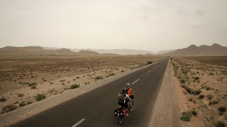 Los dos hermanos durante su viaje entre Cuenca y Marruecos.