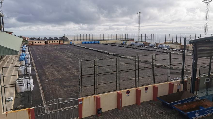 Campo municipal de fútbol de Breña Alta.
