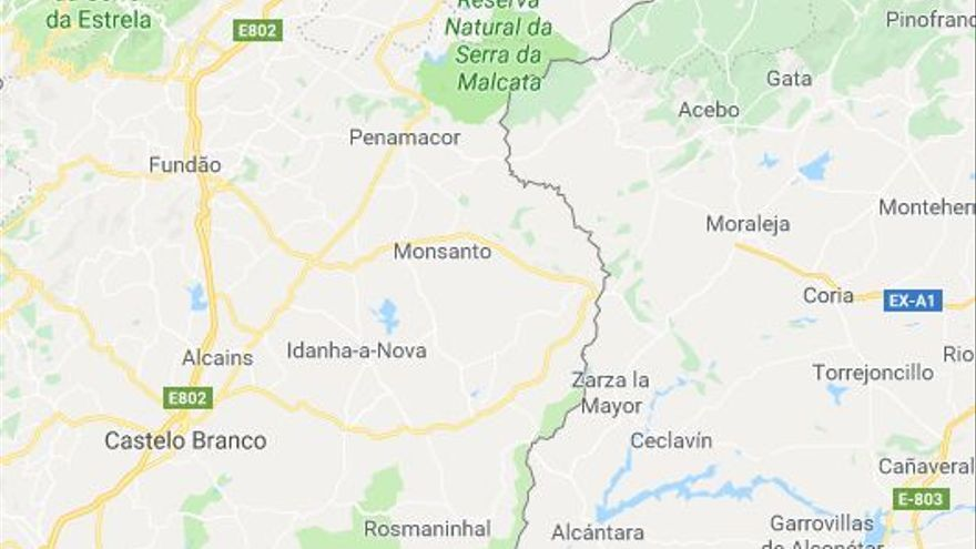 Autovía Moraleja Monfortiño Portugal Castelo Branco