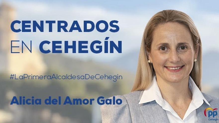 La popular Alicia del Amor Galo es la nueva alcaldesa de Cehegín